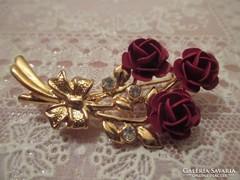 Rózsa bross,kitűző.