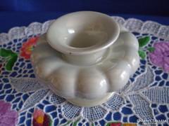 Különleges formájú jelzett porcelán gyertyatartó