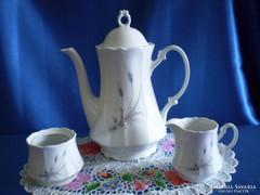 Gyönyörű Bavaria Winterling tea-, tejkiöntő és cukortartó