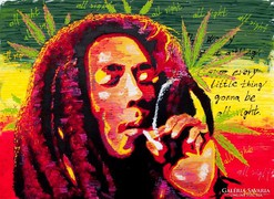 Bob Marley portré 70x50cm