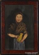 0M129 Jelzés nélkül : Idős asszony portré