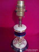 Díszes olasz porcelán+ réz asztali lámpa test