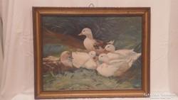 Lengyel Gy. festmény , kacsák
