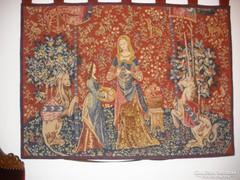 Gobelin-tűgobelin falikárpit 107 x 83