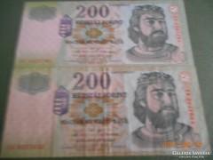 2 db / 200 Forint