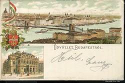 BUDAPEST 1897 LITHO KÉPESLAP