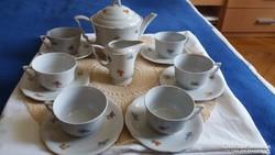 Zsolnay porcelán teás készlet 6 személyes