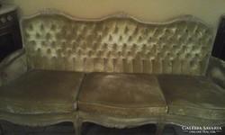 Francia kanapé -  2 fotel