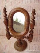 Antik fa ó-német asztali tükör,budoár tükör