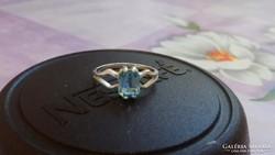 Akvamarin 925 gyűrű