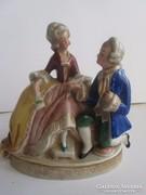 Német porcelán: ALTWIEN figura 1930-40 évekből   Kézzel fest