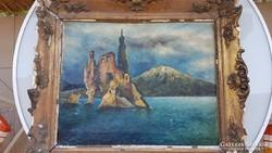 Pietro Scoppetta (1863-1920) olaj vászon