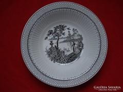 Hattyúkat etető jelenetes porcelán tál