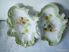 150 éves 2 részes porcelán  kínáló tál