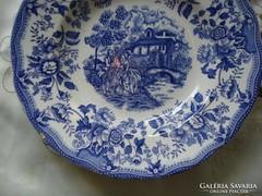2 db  jelenetes porcelán mély tányér