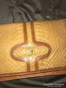 Kígyóbőr gyönyörű antik luxus táska hosszú láncal