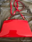 Tűzpiros gyönyörű antik luxus táska nagyméretű