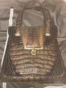 Krokodilbőr gyönyörű antik luxus táska