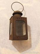 Ritka antik ,régi lemez vasutas petróleum lámpa