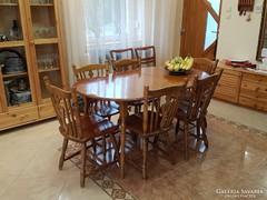 Ebédlőasztal 6székkel