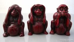 Három bölcs majom, nem lát, nem hall, nem beszél