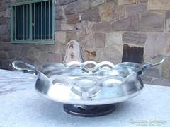 Gyönyörű szecessziós asztali kínáló ezüstözve