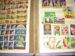 Kb. ötszáz külföldi gyufacímke /1950-60-as orosz, cseh, st