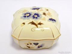 Zsolnay búzavirágos bonbonier (ZAL-R51012)