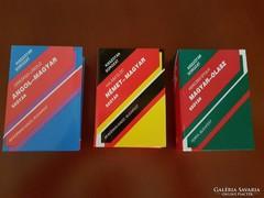 Angol-magyar, német-magyar, magyar-olasz szótár