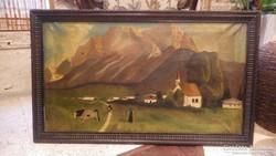 Szabó J. antik festmény tehénnel , olaj-vászon