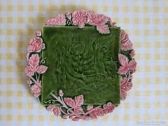 Schütz Cilli majolika tányér