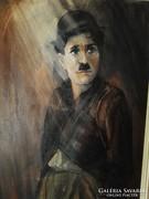 Charlie Chaplin portré