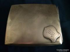 Régi 900-as ezüst H.E. monogrammos cigarettatárca