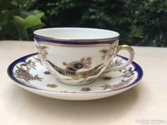 Zsolnay Főnix madaras mokkás csésze aljjal
