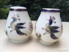 Zsolnay Főnix madaras sószóró és fogpiszkáló tartó