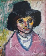 """Bartos Endre (1930-2006): """"Kalapos Kati"""", 1977"""