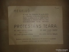 Meghívó Protestáns teára 1928