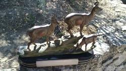 Nagyméretű Antik Francia ArtDeco Asztaldísz Zergékkel