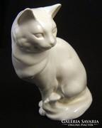 Fehér Drasche kerámia macska/cica