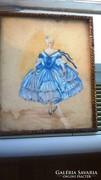 2 db tündéri kis festmény Mészöly Laura