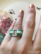 Ezüst mutatós extravagáns designer gyűrű