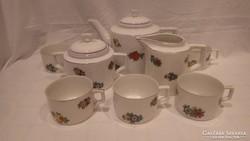 Zsolnay pajzspecsétes porcelán ritka teás készlet hiányos