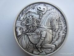 Fejetlen lovas ezüst 0.999 2 uncia ezüst érme RITKA SZÉP!!!