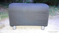 Szivacsos ülőrész IKEA, négyzet alakú, fémlábas, fekete