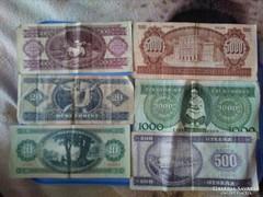 Papir pénzek egyben