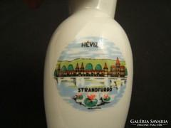 Hévizi holloházi emlék porcelán váza