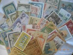 50 db Használt Vegyes Külföldi  Bankjegy Csomag!