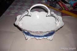Asztalközép kínáló füles porcelán