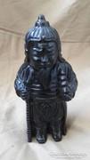 Ónix faragott japán figura,ritka darab,kora nem ismert 518 g