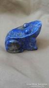 Lazurit kőből faragott béka,ritka darab,kora nem ismert 150g